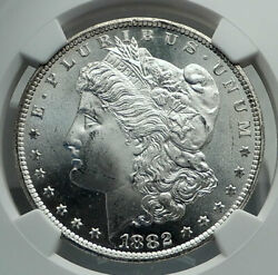 1882 Cc United States Of America Silver Morgan Us Dollar Coin Eagle Ngc I79659