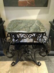 Vintage French Iron Bakerand039s Table