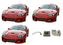 For Dodge Stealth 94-98 Rgb Multi Color Ir Led Halo Kit For Headlights