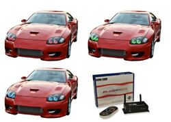 For Dodge Stealth 94-98 Rgb Multi Color Wifi Led Halo Kit For Headlights