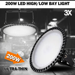 3x 200W UFO LED High Bay Lamp Gym Factory Warehouse Industrial Shed Lighting