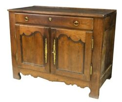 Antique French Provincial Country Oak Sideboard Buffet Server Bar | 19th Cen.