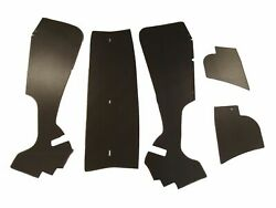 1956 Cadillac Coupe Deville Trunk Side Panel Kit Brown 5 Pieces