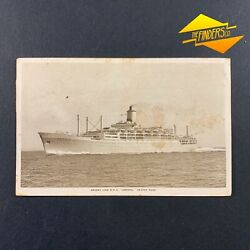 Vintage 1955's Orient Line Rms Orsova Real Photo Post Card Nautical Adelaide