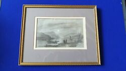 Mary Harrison 1788 - 1875 Graphite And Chinese White Sketch Of Rhine Dated 1844