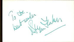 Bryan Forbes D.2013 Actor / Writer Guns Of Navarone Signed 3 X 5 Index Card
