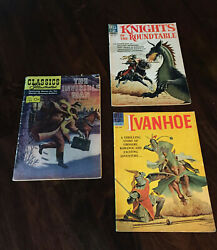 Classics Illustrated 153 Invisible Man + Dell Ivanhoe And Knights Of Roundtable