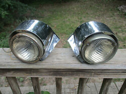 1950-1952 Cadillac Grille A-50 Guide Fog Light Driving Light 1456226lh 1456227rh