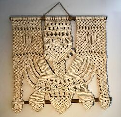 Macrame Rothschild Family Owned Wallhanging Large Holy Grail Art Handmade