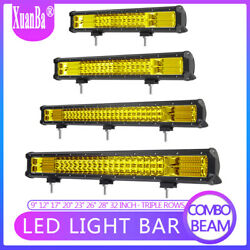 9'' 12'' 17'' 23'' 32 Inch Led Light Bar Offroad Driving Amber Lamps 4wd Tractor