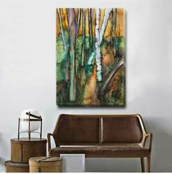 Forest Boulevard Stretched Canvas Art Print Framed Home Office Wall Decor F95