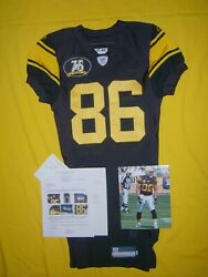 Steelers 2007 Hines Ward Team Issued 1960s Throwback Signed Game Jersey Loa Pic
