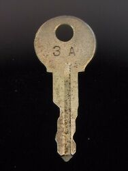 Ignition Switch Key 3a From Remy Series 1a-4cx, 1920's Vintage Olds Auburn