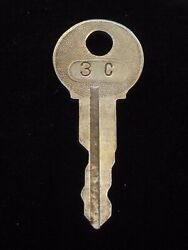 Ignition Switch Key 3c From Remy Series 1a-4cx, 1920's Vintage Olds Auburn