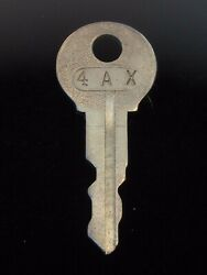 Ignition Switch Key 4ax From Remy Series 1a-4cx, 1920's Vintage Olds Auburn