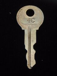 Ignition Switch Key 4c From Remy Series 1a-4cx, 1920's Vintage Olds Auburn