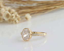 2.13ct Oval Cut Art Deco Antique Engagement Wedding Ring Yellow Gold