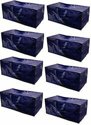 Heavy Duty Extra Large Storage Bag Moving Tote Backpack Boxes 8 Pack $39.99