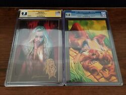 Legend of OZ The Wicked West #7 & Dark Red #1 CGC 9.8 SS Remark Shannon Maer Set