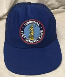 Adj Vint Wear Tennessee Army National Guard Neat Poofy Patched Trucker Hat Style