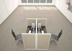 4x2 Cubicles- 54andprimeh- 2 Man Telemarketing Call Center Office Workstations -u