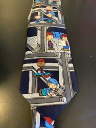"""Peanuts 'The Sky's The Limit"""" Tie Construction Themed Free Shipping $8.51"""