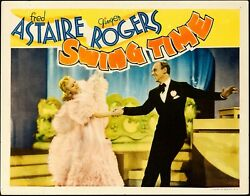 Movie Poster Swing Time 1936 Lobby Card 11x14 Vf-7 Fred Astaire Ginger Rogers