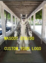 Snow Leopard Mascot Costume Suit Cosplay Party Game Dress Outfit Christmas A