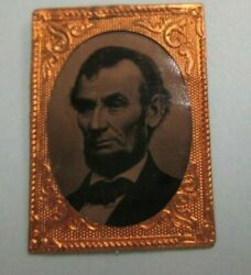 Excellent Ferrotype Of Abraham Lincoln 1864 Campaign Badge Super Fine Condition