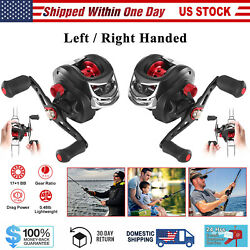 Baitcasting Fishing Reel 17+1 Bb 7.11 Gear Ratio Left/right Up To 17.5lbs Drag