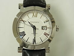 And Co. Atlas Gent Automatic Ss Leather Belt Men's Watch From Japan[b0731]