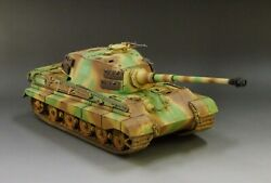 1/30 Ww2 German King Tiger Camouflage Version With Metal Tracks And Wheels
