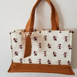 Tokyo Disneyland Hotel Guest Exclusive Mickey And Minnie Tote Bag With Luggage Tag