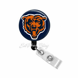 Chicago Bears Badge Reel Name Tag ID Pull Clip Holder Retractable Lanyard Gift