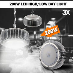 3x 200W LED High/Low Bay Light Commercial Warehouse Factory Shed Shop Lighting