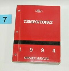 1994 Ford Tempo Mercury Topaz Factory Service Manual USED CONDITION #7
