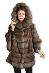 Russian Sable Fur Cape Hooded Domenica