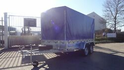 Car Trailer 10ftx5ft Twin Axle Unbraked 750kg Al-ko Box Trailer High Cover 59ft