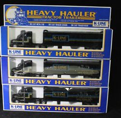 Lot Of 3 K-line Heavy Hauler Tractor Trailer Nyc Toy Fair 1992