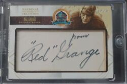 2014 NATIONAL TREASURES Red Grange Hall of Fame HOF Auto 1 of 1 11 Bears