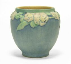 Newcomb College Pottery 1922 Afs 4.5 Rose Vase Arts And Crafts Matte Blue Green
