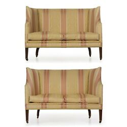 PAIR OF SOFAS   Antique English George III Mahogany Canapé Settees