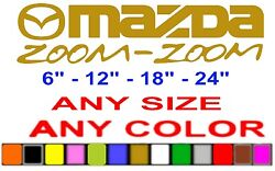 Mazda Zoom - Zoom Sticker Decal Any Size Or Color Available Riata Drift Race