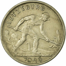 [675731] Coin, Luxembourg, Charlotte, Franc, 1946, Vf30-35, Copper-nickel