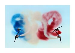 Patrouille De France 1 A4 Reproduction Picture Poster With Choice Of Frame