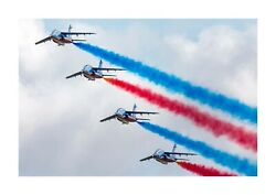 Patrouille De France 2 A4 Reproduction Picture Poster With Choice Of Frame