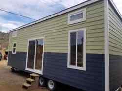 TINY HOUSE OFF GRID MODERN CARAVAN W LOFT 8.5 X 28 READY TO LIVE IN OR RENT OUT
