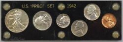 1942 Usa Unc. Proof Mint Set W/ 6 Coins And Includes The Silver Nickel  Rare