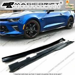 For 16-18 Chevy Camaro Mdp Zl1 Style Side Skirt Rocker Panel Extension Lips