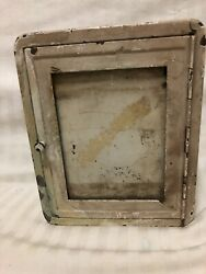 Antique Rustic Metal Safetee Shaving Cabinet For Gem And Ever-ready Safety Razors
